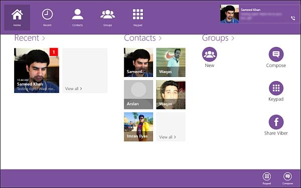 Viber for Windows 8