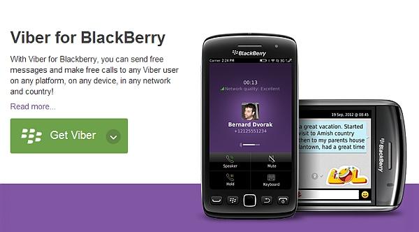 Free Viber Download for BlackBerry